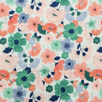 Fabric - Makower - Floral Splendour - Peach