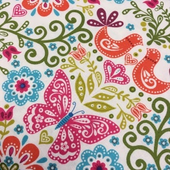 Fabric - Makower - Papillon - Butterfly - Bright