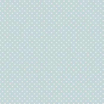 FABRIC FELT - Polka Dots - Light Blue