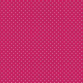FABRIC FELT - Polka Dots - Fuchsia