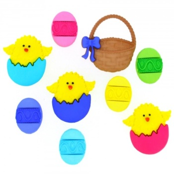 Dress It Up Buttons - Easter Basket