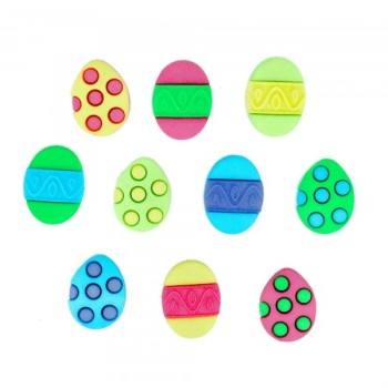 Dress It Up Buttons - Easter Painted Eggs