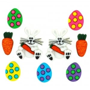 Dress It Up Button Pack - Easter Egg Hunt