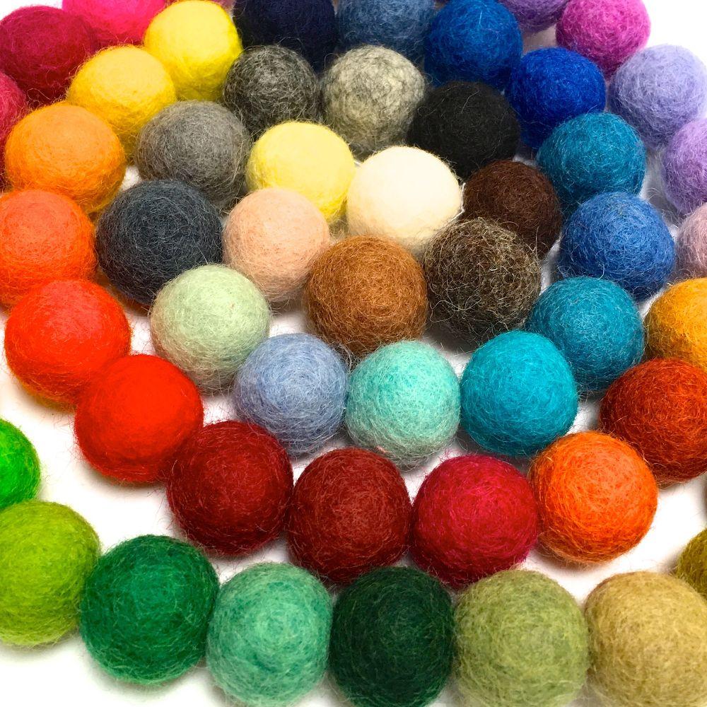 Glitter Felt Balls & Shapes