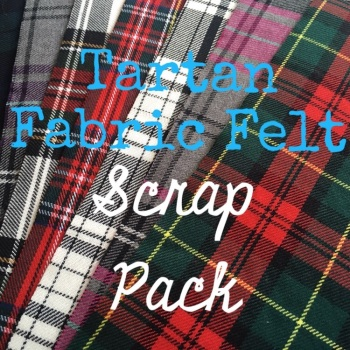 Tartan Fabric Felt Scrap Pack