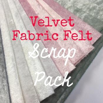 Velvet Fabric Felt Scrap Pack