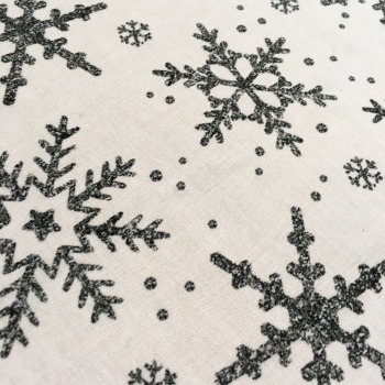 SALE FABRIC FELT SHEET - Limited Edition - Snowflakes - Silver