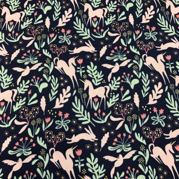 Fabric - Michael Miller - Magic Folk - Navy