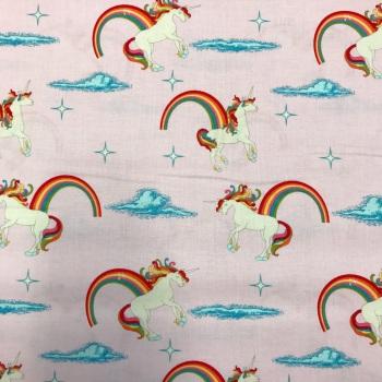 Fabric - Princess Dream - Novelty - Unicorn Pink