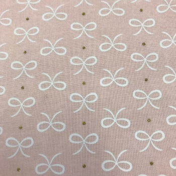 Fabric - Bows - Bitty Bows - Pink