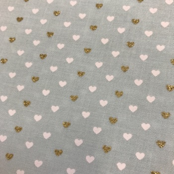 Fabric - Michael Miller - Heart Sprinkles - Mint