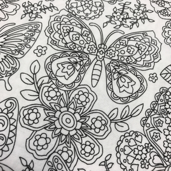 FABRIC FELT - Colour Me - Papillon Paisley Butterfly