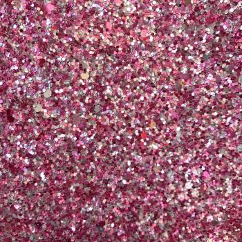 Chunky Mix Glitter Fabric - Pink Fizz