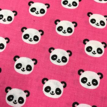 Fabric - Robert Kaufman - Urban Zoologie Minis - Pandas - Pink