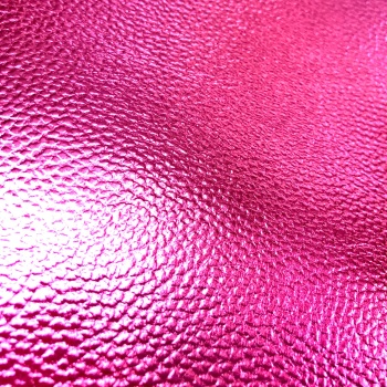 Textured Faux Leather - Metallic Pink