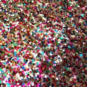 Chunky Mix Glitter Fabric - Confetti