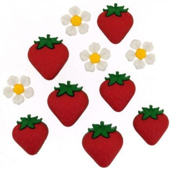 Dress It Up Button Pack - Fresh Strawberries