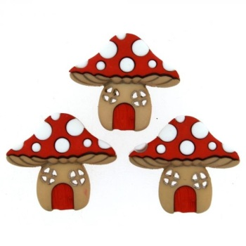 Dress It Up Button Pack  - Mushroom Houses