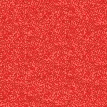 Fabric - Makower - Metallic Dotty - Red