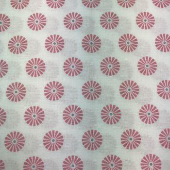 FABRIC FELT - Gutermann - Pinwheel - Light Pink on White