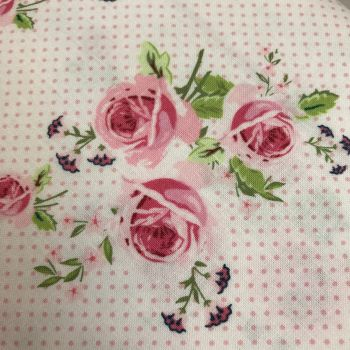 Fabric - Gutermann - Polka Dot Roses - Pink