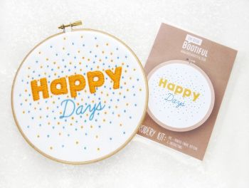 Embroidery Kit - Happy Days