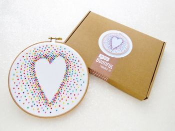 Embroidery Kit - Rainbow Heart