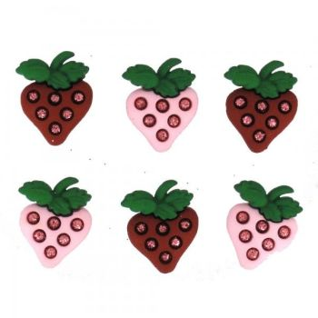 Dress It Up Button Pack - Strawberries Fields