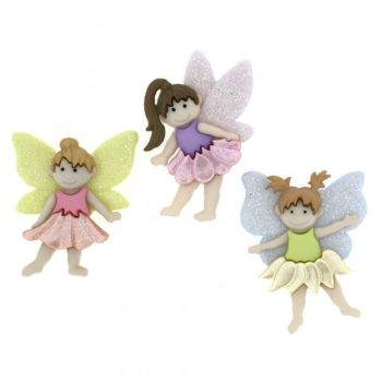 Dress It Up Button Pack - Flower Fairies