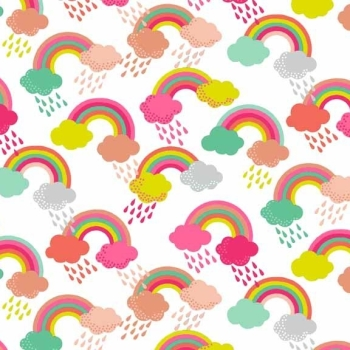 Fabric - Makower - Fantasy - Rainbow