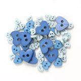 Trimits Mini Heart Buttons - Blue