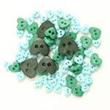Trimits Mini Heart Buttons - Green