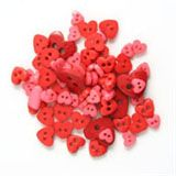 Trimits Mini Heart Buttons - Red
