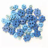 Trimits Mini Flower Buttons - Blue