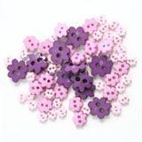 Trimits Mini Flower Buttons - Pink/Purple