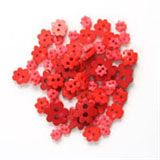 Trimits Mini Flower Buttons - Red