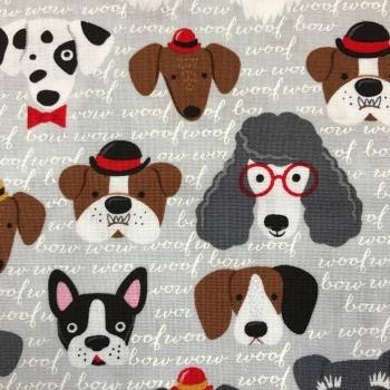 FABRIC FELT - Classy Canines - Grey
