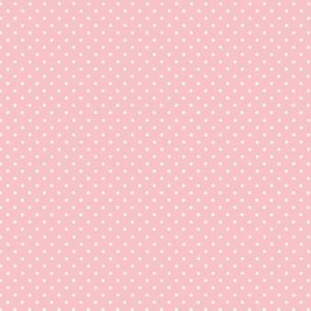 FABRIC FELT - Polka Dots - Baby Pink