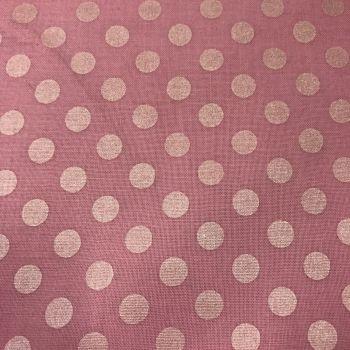 FABRIC FELT - Large Polka Dot Pearl - Baby Pink