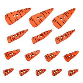 Dress it Up Button Pack - Carrot Noses