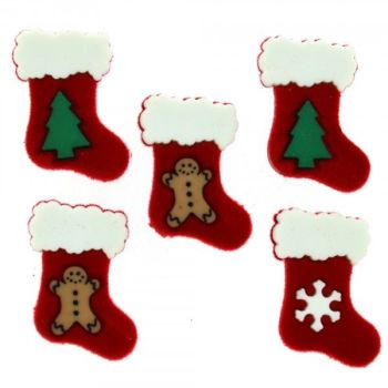 Dress It Up Button Pack - Christmas - Stocking