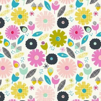 Fabric - Dashwood Studio - Confetti - Multi Flowers