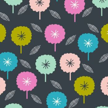 FABRIC FELT - Dashwood Studio - Confetti - Charcoal Flower