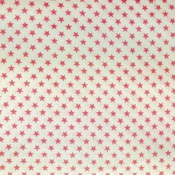 Fabric - Sevenberry - Stars - White/Pink