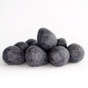 2cm Wool Felt Egg - Ash