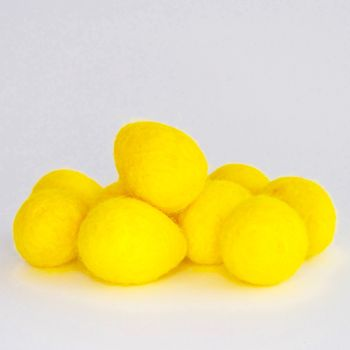 2cm Wool Felt Egg - Lemon