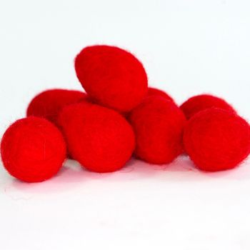2cm Wool Felt Egg - Red
