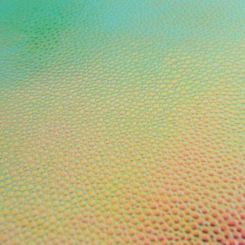 Bubbles Faux Leather Sheet - Irridescent Splash