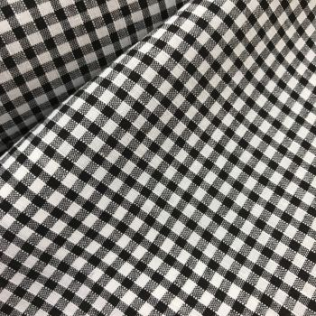 Gingham Fabric Felt - Black