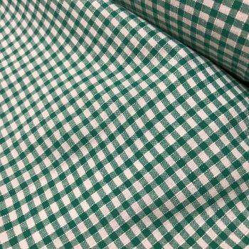Gingham Fabric Felt - Green
